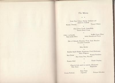 Program from 1930 CBOT banquet
