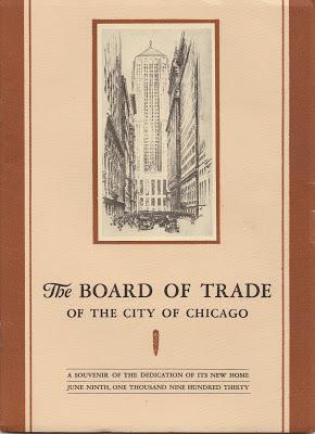 CBOT building opening program 1930