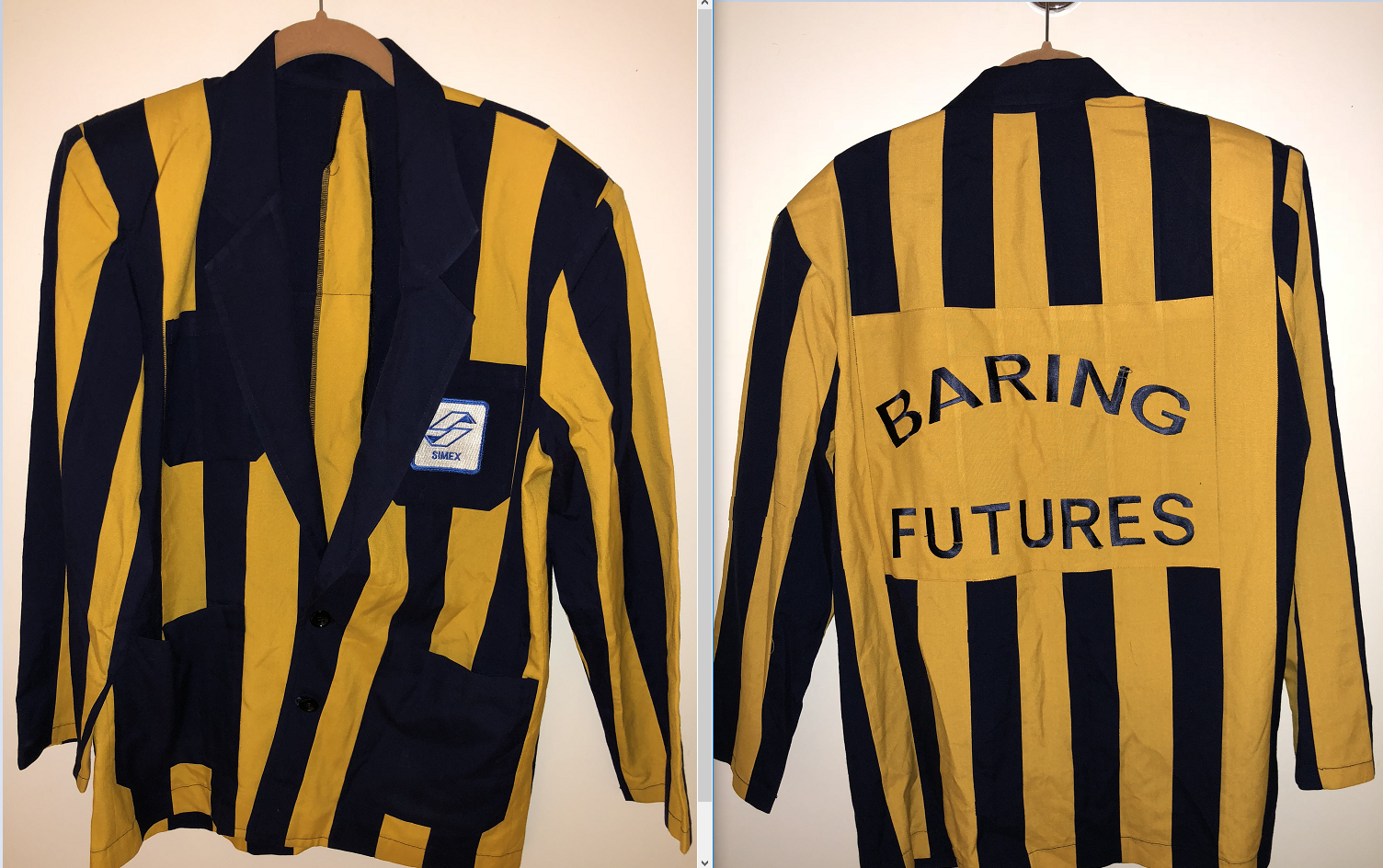 Barings Bank trading jacket Nick Leeson Singapore SIMEX