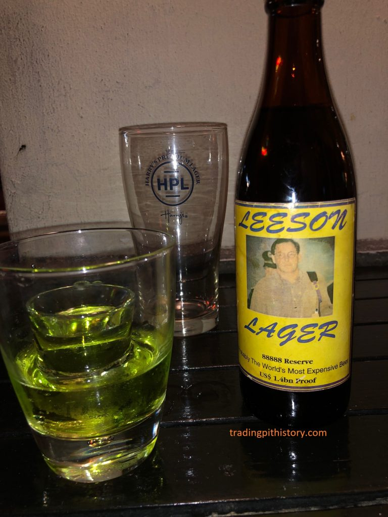 Nick Leeson Lager Harry's Singapore